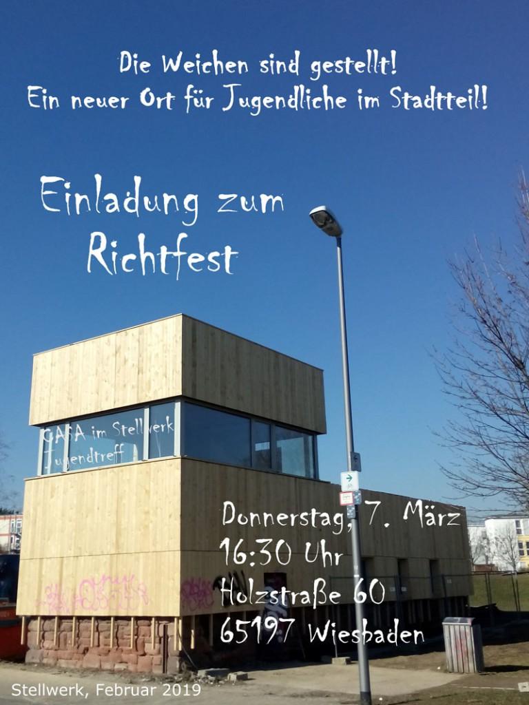 Foto Einladung Richtfest offiziell